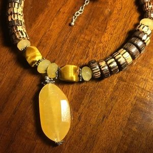 Silpada Necklace Handmade with Natural Stones 925